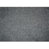 Professional Wool Blend Fabric , Wool Apparel Fabric 570 G/M Weight Manufactures