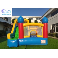 Commercial Grade Kids Parties Inflatable Bouncy Castle With Slide For Outdoor Manufactures