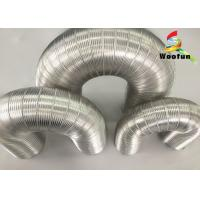 Air Conditioner Aluminum Air Duct Semi Rigid Hose Fire Resistant For HVAC System Manufactures