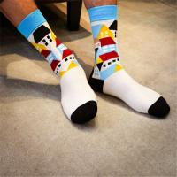 100% Organic classic OEM custom design socks for men Manufactures
