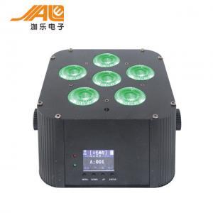 Quality Dj stage light battery quad rgbwa uv 6in1 par light 6x18w battery wireless dmx for sale