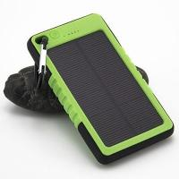 Quality PVC Customized Waterproof Outdoors Solar Power bank 6000mAH with Carabiner for sale