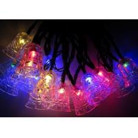 Jingle Bell 4.8m Solar Powered Decorative String Lights With 20 Bulbs Manufactures