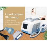 Mini Cryolipolysis Slimming Machine / Weight Loss And Skin Tightening Vacuum Cavitation System Manufactures