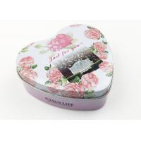 China Flower Design Heart Shaped Tin Box For Party Wedding Gift Packing on sale