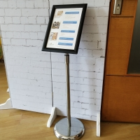 Versatility A4 Poster Display Stands / Adjustable Hight Floor Standing Poster Holder Manufactures