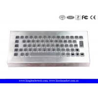 China Free Stand Desktop Stainless Steel Metal Keyboard for Industrial Using wholesale