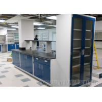 Epoxy Resin Tops Laboratory Workbench Furniture Three Section Slide Rail Drawer Manufactures