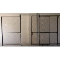 Full Height  Wire Mesh Partition Panels Metal Mesh Security Door For Inventory System Manufactures