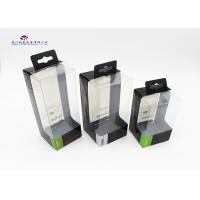 Super Clear PET Window Hard Plastic Box Packaging With Hang Strip On Top Rectangle Manufactures