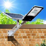 6500K 100 Watt IP65 Solar Powered LED Street Lights Integrated Pathway Lamp Manufactures