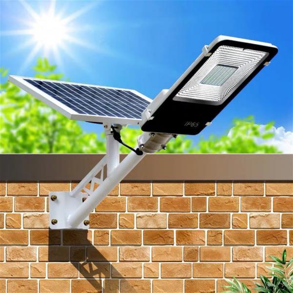 Quality 6500K 100 Watt IP65 Solar Powered LED Street Lights Integrated Pathway Lamp for sale