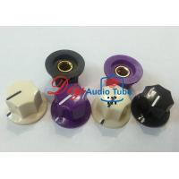 Brass Insert Stereo Knobs For Volume , Electric Guitar Tone Knob Shaft Hole 6.4mm Manufactures
