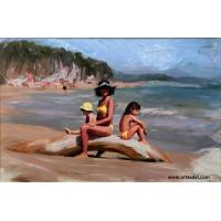 100% Hand-painted High Quality Portrait - Vacation  Oil Painting on Canvas Manufactures