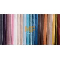 Sofa / Home Decoration Flat Stretchy Shiny Fabric With Short Pile Soil Release Manufactures