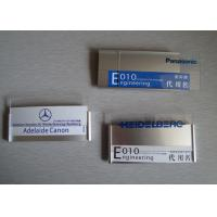 Engraved Employee Name Tag Badges Insert Paper Printing Magnetic Type Manufactures