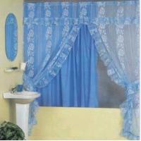 China Shower Curtain with Lace on sale