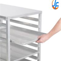 Quality 6 Shelf Baking Tray Trolley For Rotary Oven Pastry Stainless Steel Tray Rack for sale