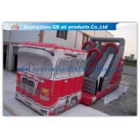 Outdoor Truck Shape Inflatable Water Slides For Kids And Adults Customized Manufactures