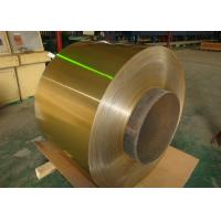 Air Conditioner Hydrophilic Coated Roll Of Aluminum Coil 0.06-0.2mm Golden 1100, 3003, 3102, 8011 Manufactures