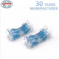 Four Pair Inline Scotchlok Wire Connectors 0.4 - 0.7mm Transparent Lock Joint Manufactures