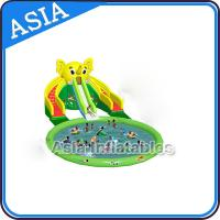 China Theme Inflatable Water Park Slides , Elephant Water Slide , Outdoor Playground Water Park on sale