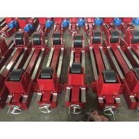 Bolt Adjustment Self Aligning Rotator 20 Ton Conventional , Coated With Rubber Wheels Manufactures