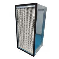 China Galvanized Steel Frame HEPA Air Filter 1000m³/h Air Volume With Aluminum Foil Separater on sale