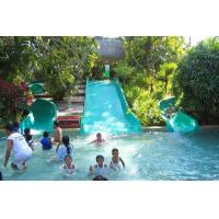 Swimming Pool Play Fiberglass Water Park Equipment Family Wide Slide For Kids Manufactures