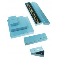 157g + 800g Jewelry Recycled Cardboard Gift Boxes For Necklaces , Blue Luxury Gift Boxes Manufactures