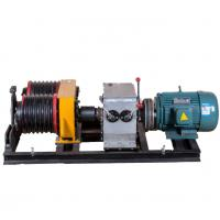 Safe 5 Ton  Double Drum Electric Cable Pulling Winch Machine for Power Construction Manufactures
