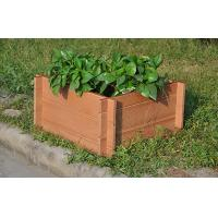 Eco-Friendly Brown WPC Outdoor Furniture , Square Wood Plastic Composite Flower Pot