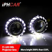 China Hot sale Firewheel shroud led light guide angel eyes 2.5 inch hid high and low beam projector lens for H1 H4 H7 car moto on sale