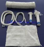 Boiler Insulation Ceramic Fiber Refractory Textiles Oil / Water Vapor Resistent Manufactures