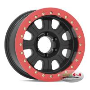 Factory Price Alloy Black 17x9 Beadlock 4x4 Rim Wheel 16X7 PCD 5X114.3 8 Spoke steel beadlock wheel Manufactures