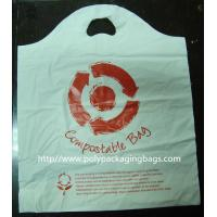 China 100% Compostable Plastic Bags Die Cut Shopping Bag in White on sale