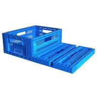 China 600*400*240mm collapsible plastic crates Folding Plastic Fruit Box Stackable on sale
