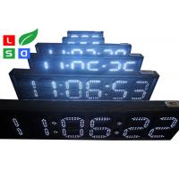 Outdoor LED Scrolling Sign White / Red LED Countdown Digital Sign Board With RF Remote Control Manufactures