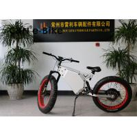 High Speed Electric Mountain Bikes With Fat Tires , Fat Tire Electric Beach Cruiser Manufactures