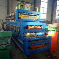 China Double layer color steel galvanized roofing sheet roll forming machine on sale