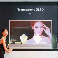 Beauty Shops Transparent OLED Touch Screen / 55 Android Advertising Displays