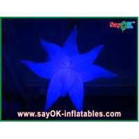 China Purple Green Fireproof Giant Inflatable Stars LED Light For Party Decorations on sale
