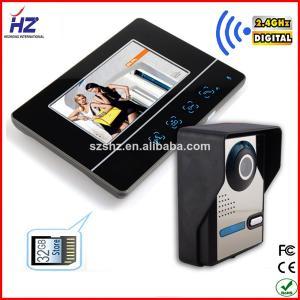 China 2.4GHz digital wireless audio video door phone color video intercom on sale