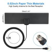 Amplifier Indoor Digital TV Antenna , Indoor Television Aerials F Male Connectors Manufactures