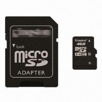 Buy cheap 4GB MicroSD/TF Card with High Compatibility and Reliability, OEM Orders are from wholesalers