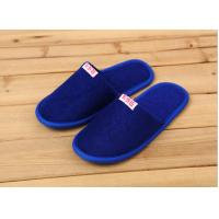 Comfortable Cotton Velour Disposable Hotel Slippers , Terry Cloth Flip Flop Slippers Manufactures