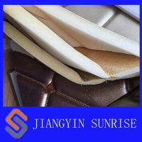 Bedroom Wall Dyeing Woven Leather Upholstery Fabric With PU Coating Manufactures