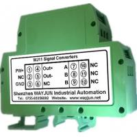 Buy cheap RTD PT100 temperature Signal to 4-20mA Isolators(one in one out) Green DIN35 from wholesalers