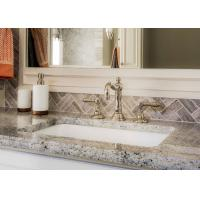 Giallo Caspian Natural Marble Bath Vanity Tops With Eased Edges Manufactures