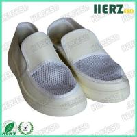 China Leather / Mesh Upper ESD Safety Shoes / Anti Static Footwear For Clean Room on sale